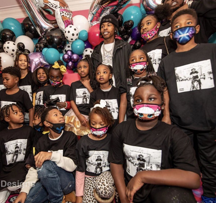 lil baby threw an extravagant l.o.l dolls-themed birthday party for george floyd's daughter – video