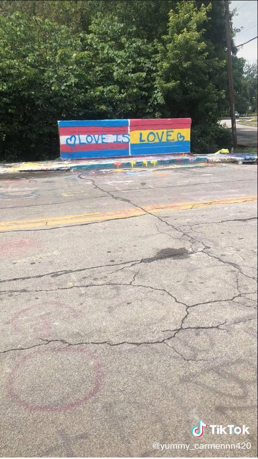 Homophobic Woman Destroys Pride Mural As She Screams At The Teens That Made It