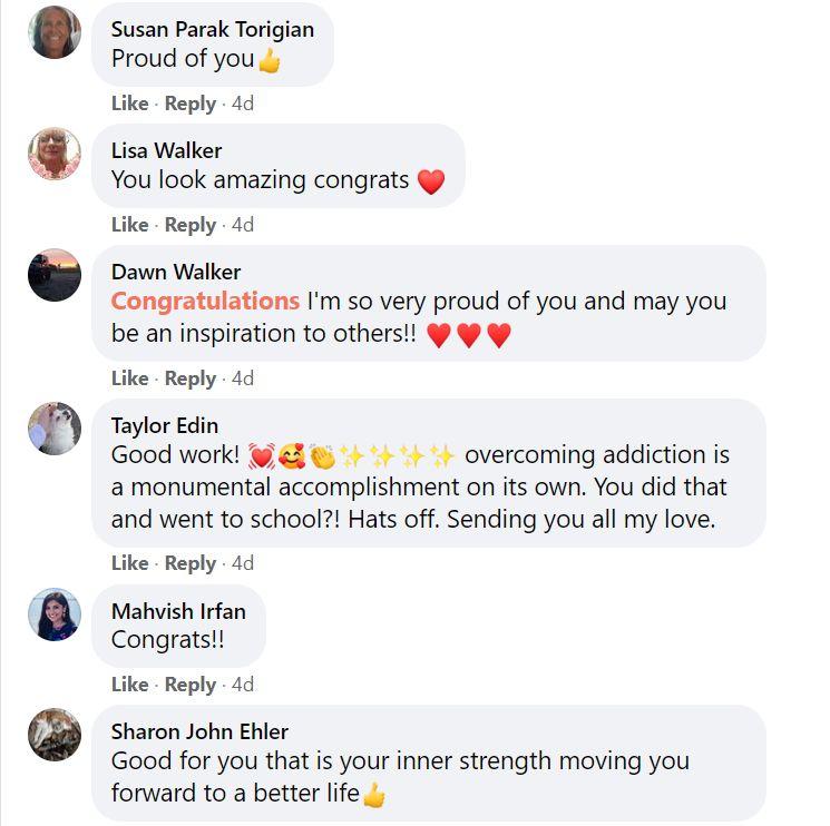 Former Addict Shows Off Startling Transformation After Graduating College