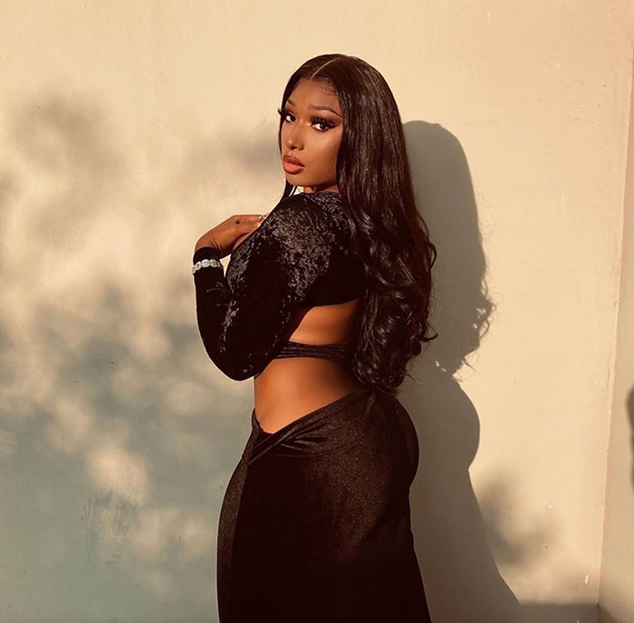 megan thee stallion; city girls, yung miami wild night ends with rappers caught kissing at bet after party – video