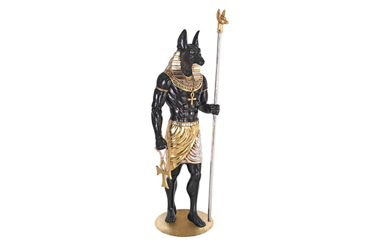 , Unique Egyptian God Of Death With Dog Head
