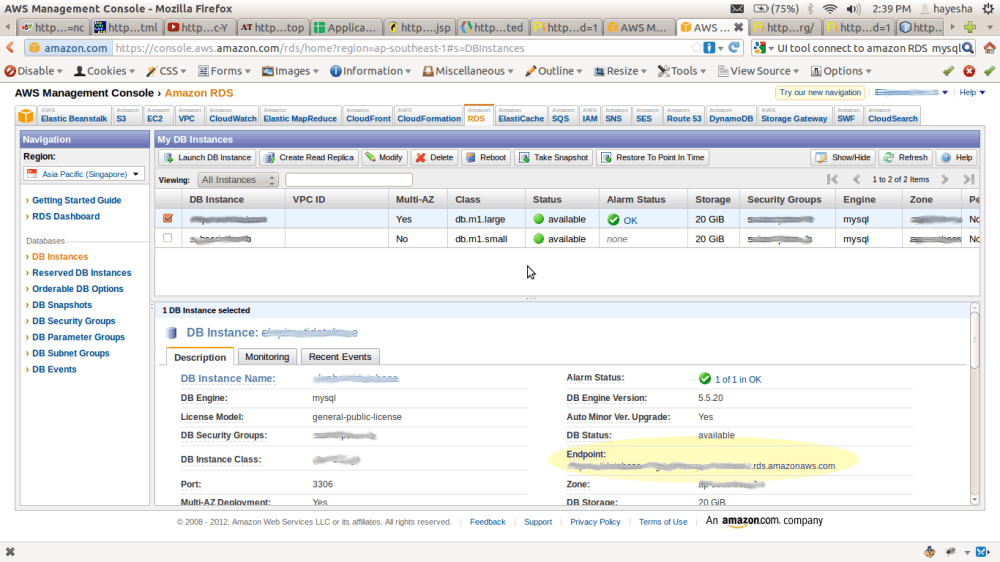 Monitoring and Managing Amazon RDS Databases using MySQL Workbench (5/6)
