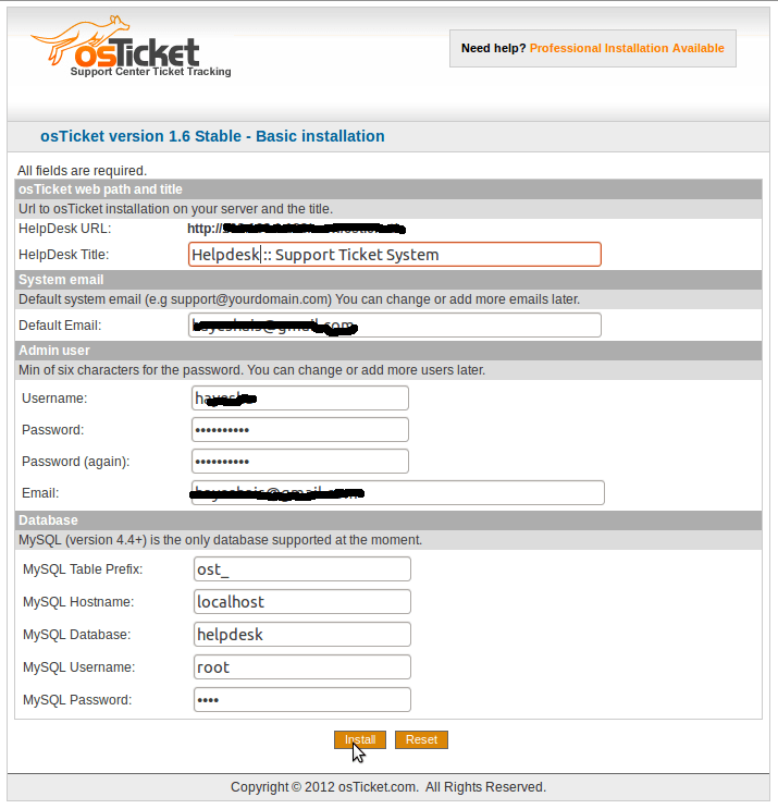 Setting up osTicket to handle customer inquires (1/3)