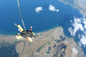 plummeting towards Lake Taupo, that's me in the red!