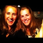 laughing sisters on a Saturday night