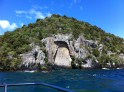 the carvings at Mine Bay, ake Taupo