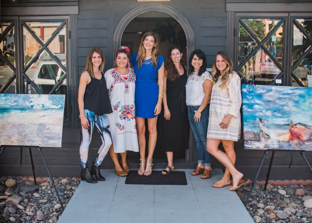 Sea + Wander is a pop up event hosted by Stefanie Bales Fine Art to showcase her work and celebrate other women entrepreneurs, held in San Diego California