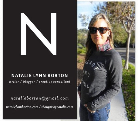Fancy New Business Cards // thoughtsbynatalie.com