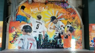 A mural honoring Astros past, present and future