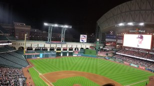 A look at Minute Maid Park with the roof open