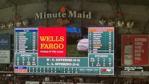 The line score from another Astros victory