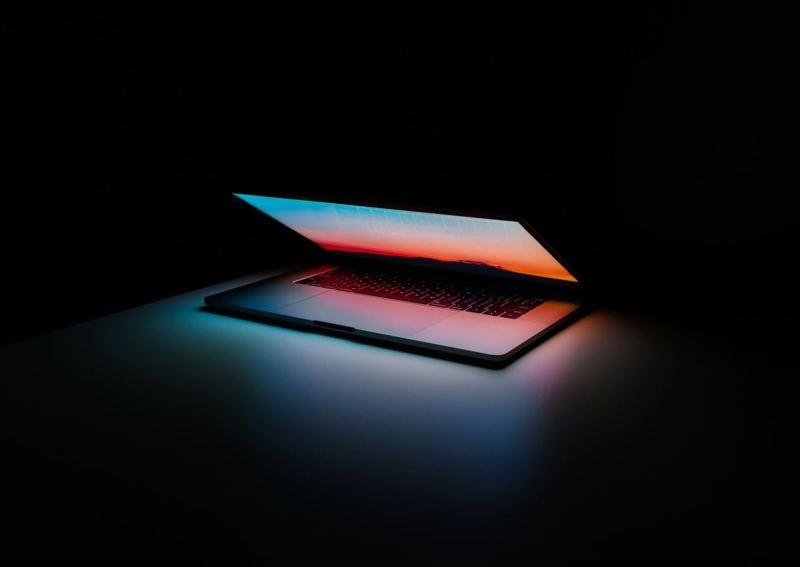 Semi-open laptop