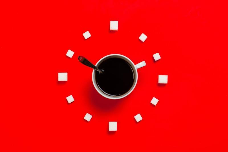 Coffee mug as clock