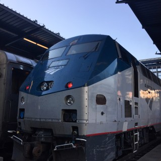 The Amtrak Cascades (our Chariot)!
