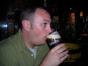 Sipping a Guinness in Ireland