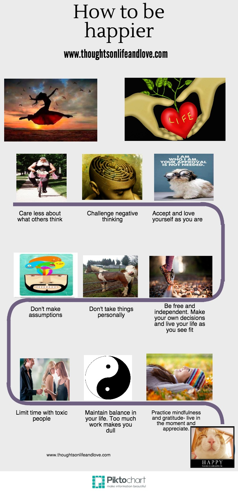 how to be happier infographic