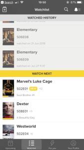 Screenshot for watchlist