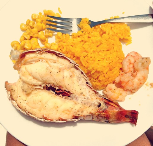 Lobster rice and shrimp