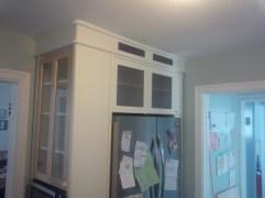 above the fridge