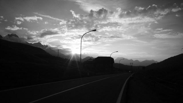 Lever de soleil sur les Dolomites