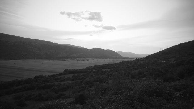 Coucher de soleil sur la vallée