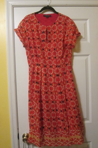 Pretty springy dress...plan to cinch this with a thick belt