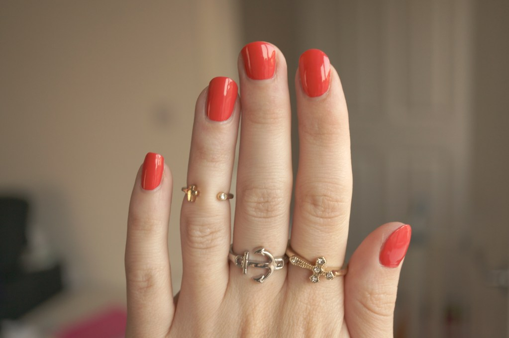Tangerine red nail polish review