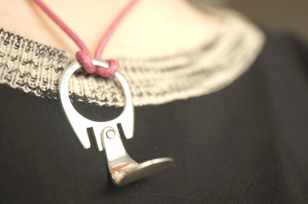 quirky silver necklace