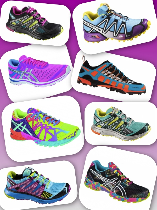 bright colourful trainers