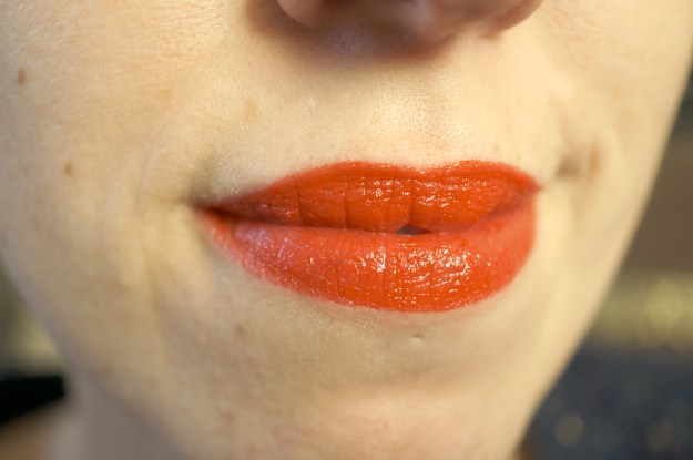 maybelline neon red lipstick review