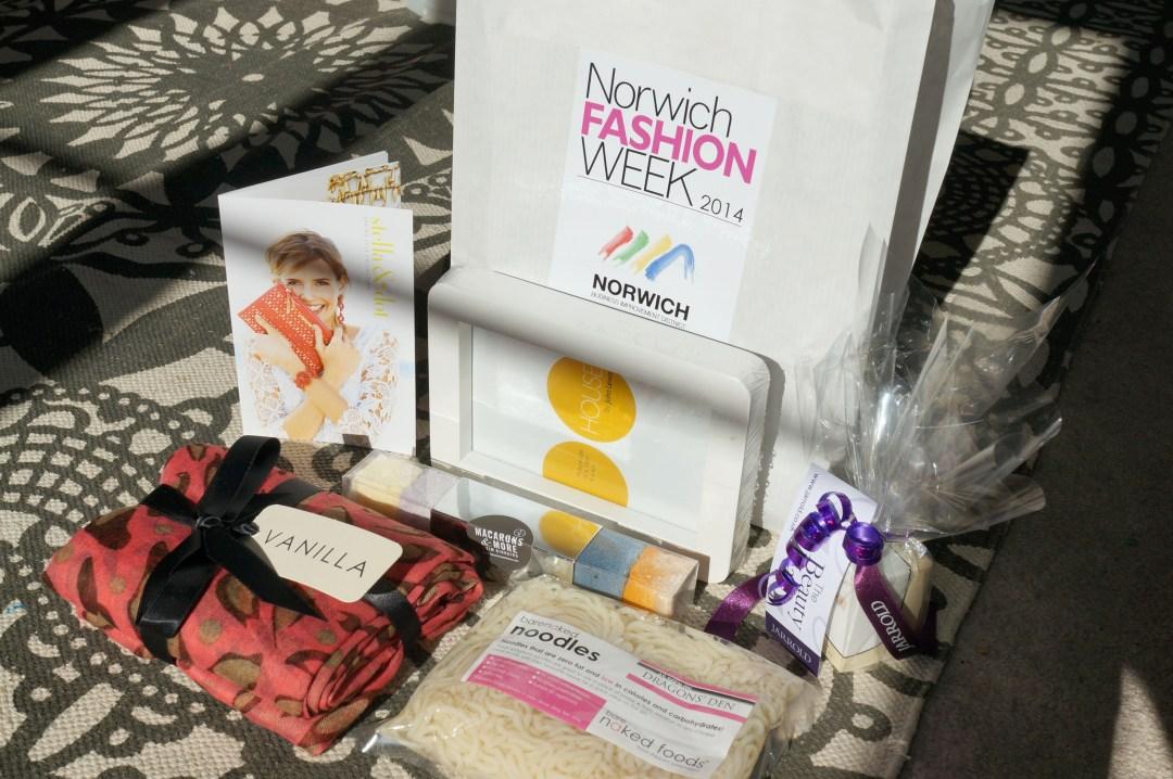 fashion week goodie bag