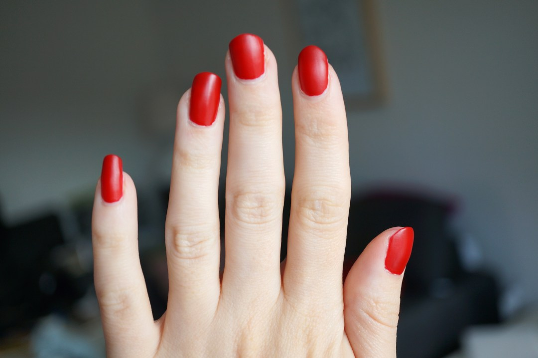 red matte nail polish review