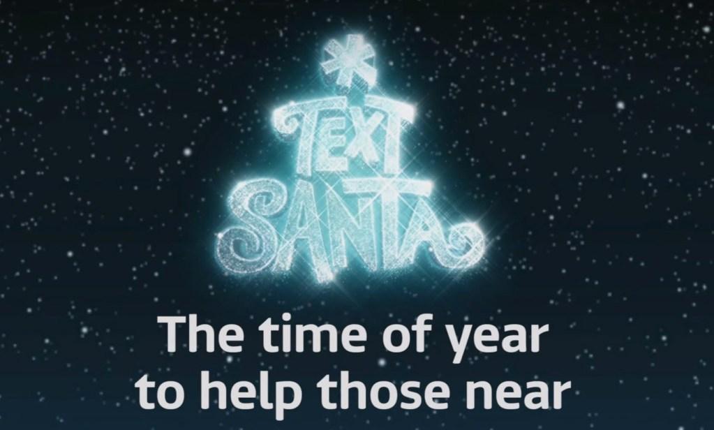 Text Santa! A Worth While Cause.