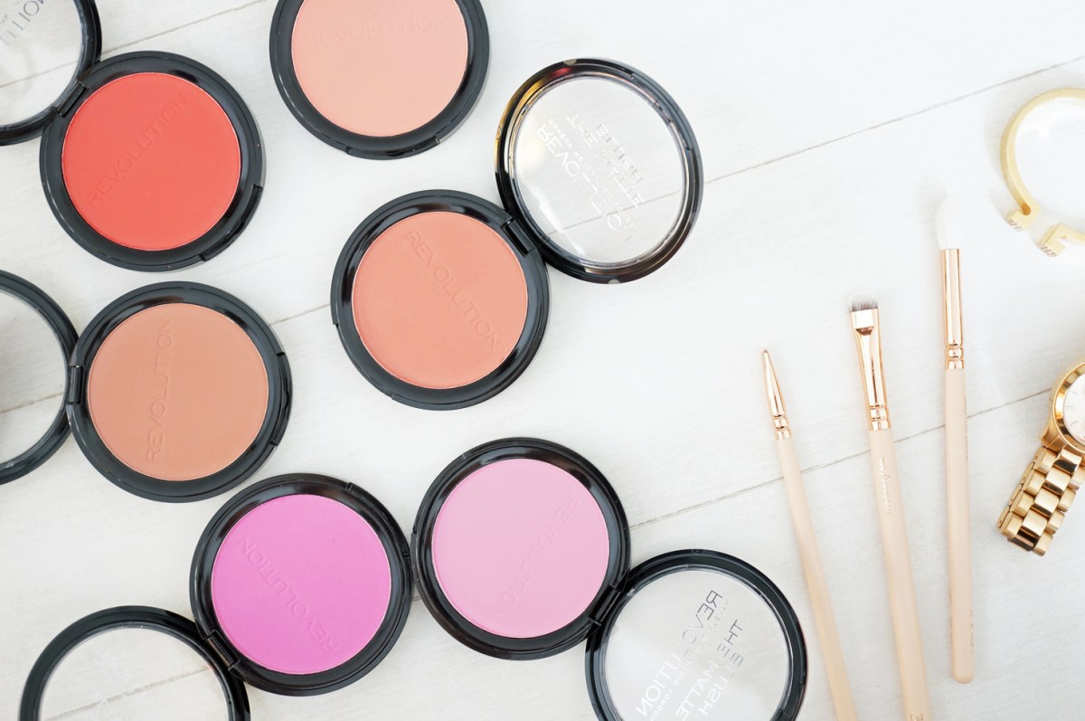 Makeup Revolution: The Matte Blush Collection
