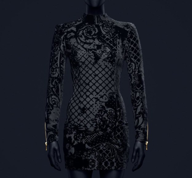hm-balmain-black-velvet-dress