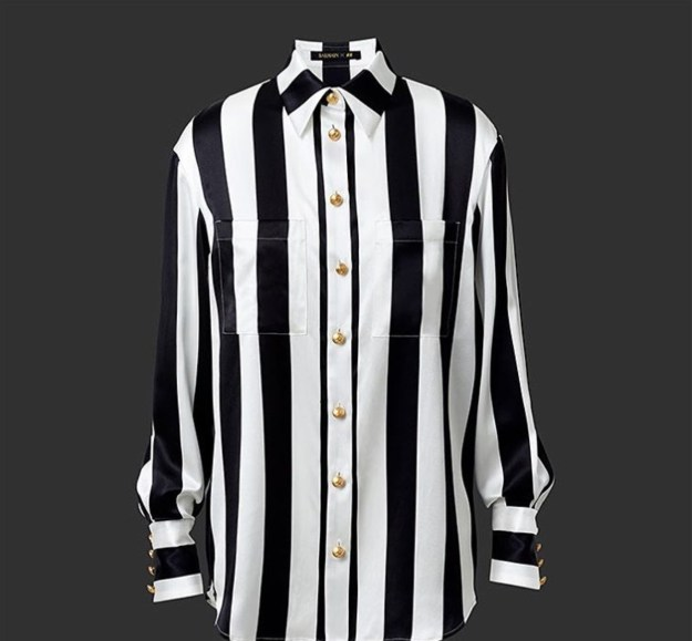 hm-balmain-black-white-stripe-shirt