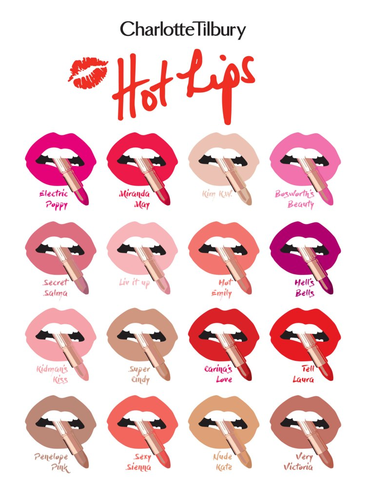 Beauty News: Charlotte Tilbury Hot Lips Collection #LipstickConfidence