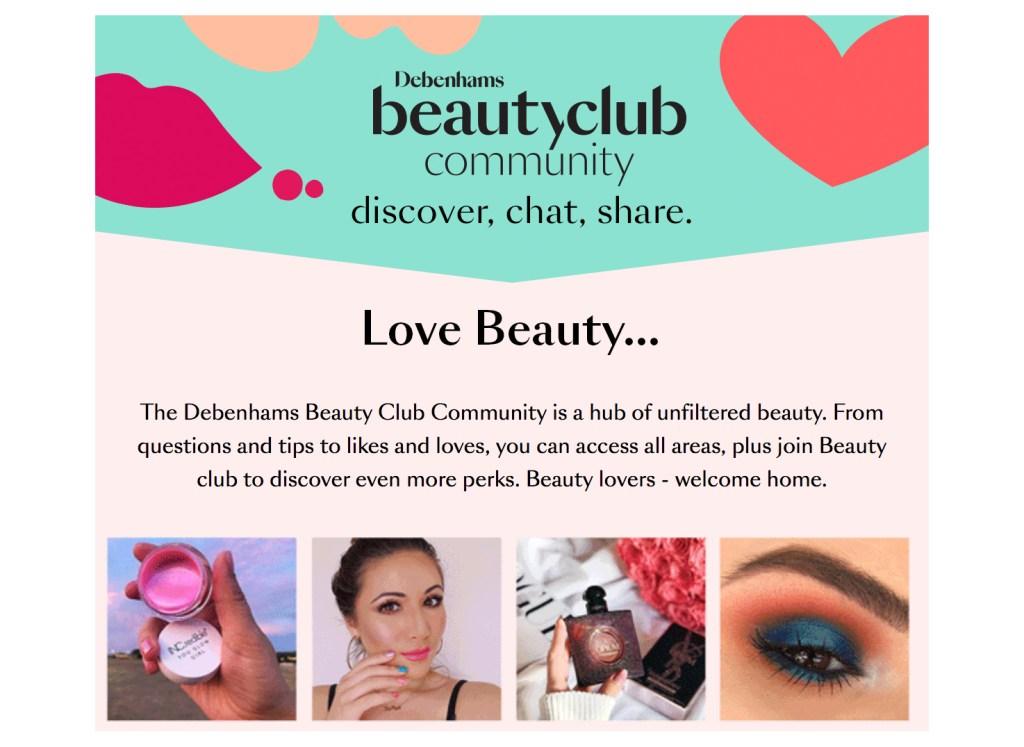 Introducing The Debenhams Beauty Club Community #LetsTalkBeauty