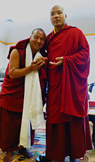 Lama Pema with His Holiness the 17th Gyalwang Karmapa
