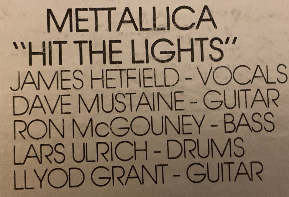 Mettallica or Metallica? - Mispelling on Metal Massacre 1