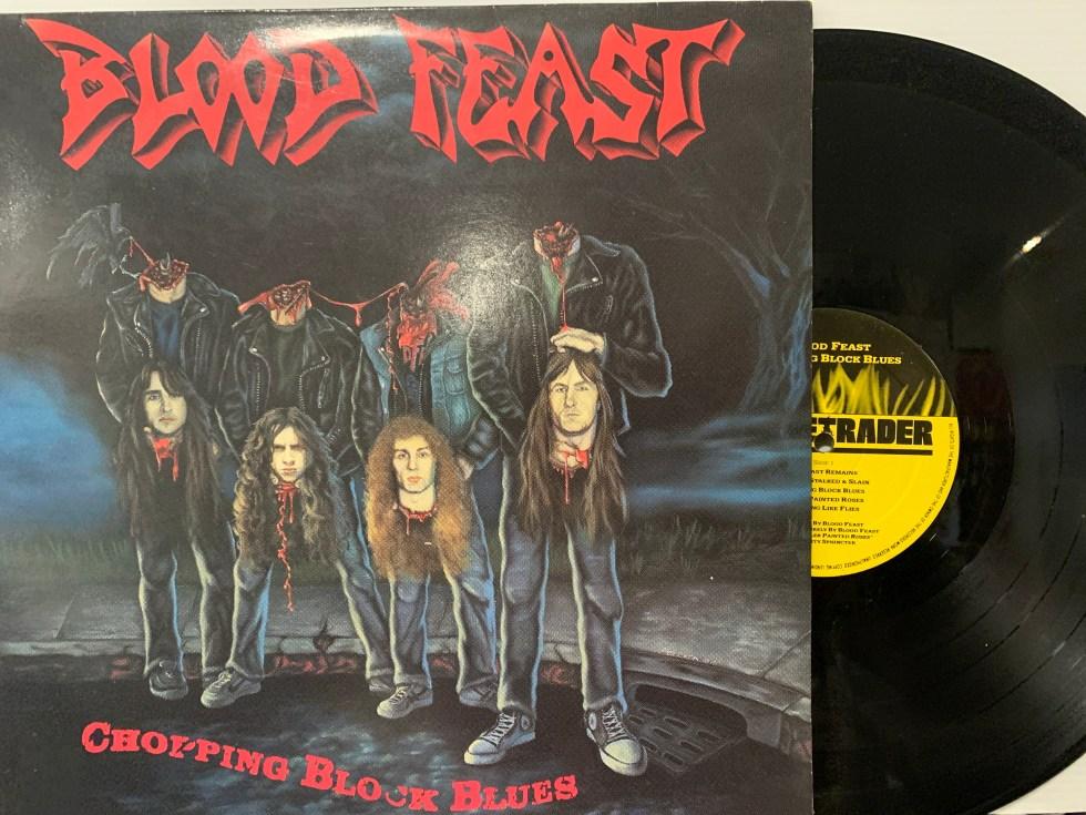 Blood-Feast-–-Chopping-Block-Blues-LP-1990-Flametrader-FLAMETRADER-1016