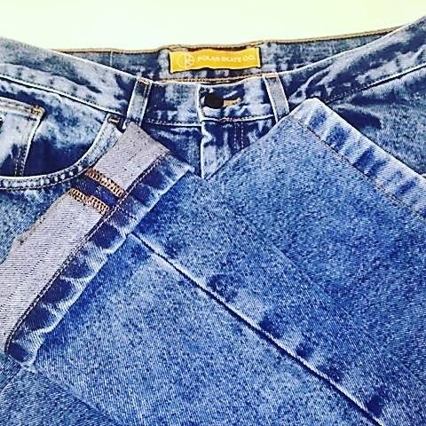 デニムの丈詰め、裾を残す加工。−3cm。#洋服のリフォーム #スレッド名古屋 #名古屋 #栄 #ファッション #ダメージデニム #丈詰め #polarskateco from Instagram