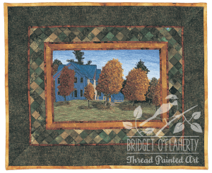 At Home in Brooke thread painting by Bridget O'Flaherty