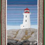 Nova Scotia: Peggy's Cove thread painting by Bridget O'Flaherty