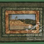 Georgian Bay vista thread painting by Bridget O'Flaherty
