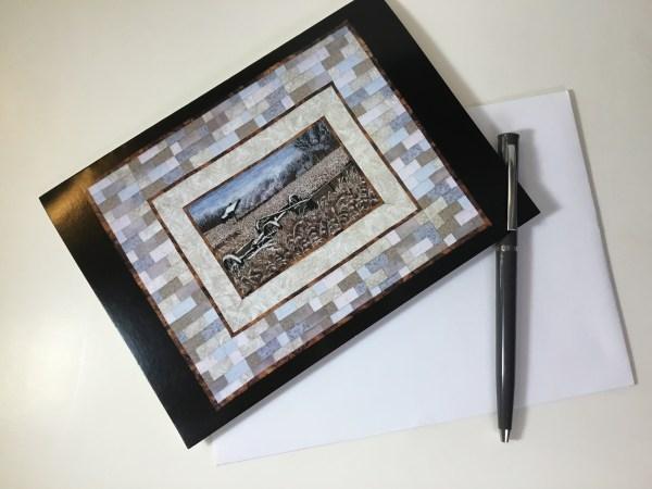 ArtCard WinterFarm by Bridget O'Flaherty