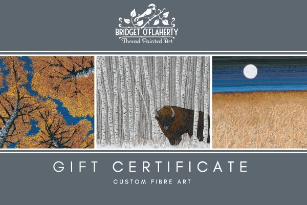 Gift Certificate for custom thread art by Bridget O'Flaherty