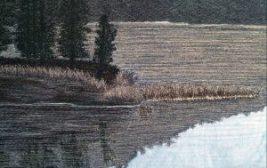 Detail Precious Moments Thread Painting