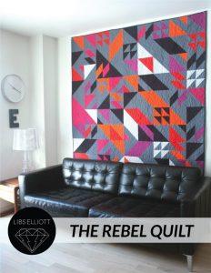 Rebel quilt pattern by Libs Elliott in a living room setting