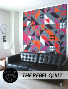 Rebel quilt pattern by Libs Elliott in a living room setting